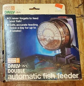 Penn-Plax Daily Double Automatic Fish Feeder 1984 Vintage NOS