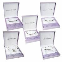 Equilibrium Silver Plated Sentimental Message Bangle Bracelet - Gift Boxed