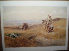 "CHARLES M RUSSELL western art print ""Flintlock Days - When Guns Were Slow"""