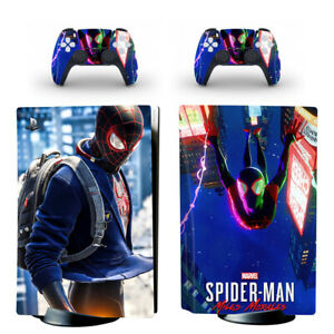 Spiderman Miles Morales Vinyl Skin Decal Sticker for PS5 Console Disc Version