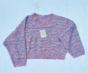 Free People Starlight Pullover Multicoloured Size Small Oversized Slouchy Boxy