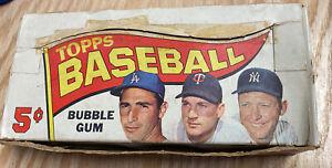 1965 Topps MLB 5¢ Empty Wax Pack Display Box  Mantle Koufax Killebrew