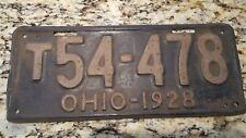 1928 Ohio Truck License Plate