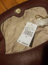 $348 Michael Kors Medium Bedford Stud Leather Bag Purse Merlot Gold NWT!!!
