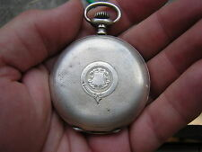 RARE Antique Swiss Georges Favre Jacot Locle HUNTER Pocket Watch SILVER 15 Rubis