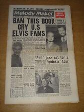 MELODY MAKER 1960 NOVEMBER 5 ELVIS PRESLEY TOMMY STEELE NORRIE PARAMOR JAZZ +