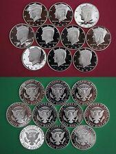 Silver 2000 2001 2002 2003 2004 2005 2006 2007 2008 2009 Proof Half Dollar Run