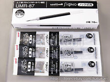 10pcs UMR-87 Black 0.7mm / Rollerball Refill for Uni-ball Signo / Gel Ink