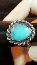 Vintage  sterling silver turquoise ring size 9.5