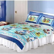 PIRATES 'SEVEN SEAS' SHIPS DOUBLE DUVET COVER NEW BOYS BEDDING