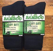 6 Pairs SIZE6-11 98%25 BAMBOO SOCKS Men's Heavy Duty Premium Thick Work Socks NAVY
