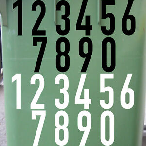 15cm DIN1451 Wunsch Wahl Nr Aufkleber Haus Nummer Ziffer Zahl Hausnummer Tattoo