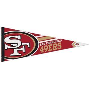 "SAN FRANCISCO 49ERS ROLL UP PREMIUM FELT PENNANT 12""x30"" NEW WINCRAFT 👀🏈"