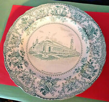 1904 St. Louis World's Fair PALACE OF VARIED INDUSTRIES GREEN PLATE,W Adams & Co