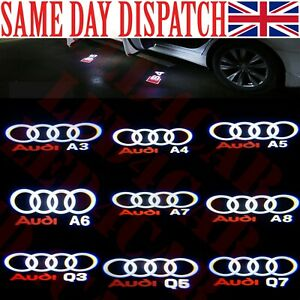 led car door logo projector light audi S3 S4 S5 S6 S7 Q3 Q5 RS3 RS4 RS5 RS6 RS7