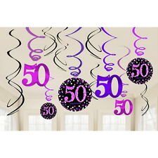 Amscan 9900613 Celebration 50th Hanging Swirl Decorations
