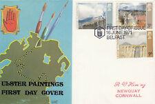(61049) GB Grobert FDC Ulster Paintings Belfast 1971
