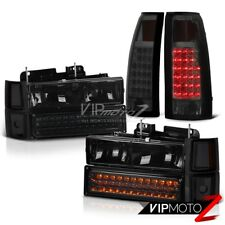 All Smoke LED Brake Lamps Head Lights 1994-1998 Chevy Tahoe Silverado Suburban