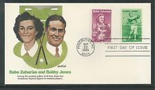 #1932/3 BABE ZAHARIAS/BOBBY JONES, GOLF CHAMPIONS 1981 Fleetwood First Day Cover