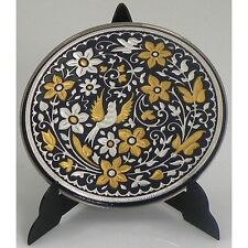 Damascene Gold & Silver Miniature Round Decorative Plate by Midas Toledo Spain