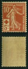 "FRANCE STAMP TIMBRE 147a "" C.R SEMEUSE MODIFIEE 10c+5c ROUGE-ORANGE ""NEUF xx TTB"