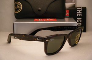Rayban Sunglasses Authentic RB2140 Tortoise Frame Green Lens 50-22mm