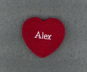 ALEX Red Felt Heart Ornament Valentine's Day + Christmas + Crafts + Gift Tag