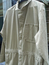BULWARK 'FIRE RESISTANT' UNLINED COVERALLS-42X30-TAN-DBL ZIPPER-NO COND ISSUES