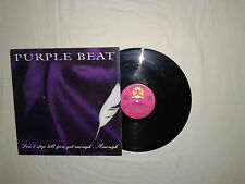 "Purple Beat-Don't Stop Till You Get Enough ...-Disco Mix 12"" Vinile ITALIA 1994"