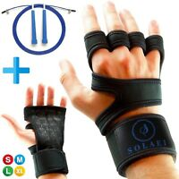 Weight Lifting Gloves For Workout Gym Cross Training Fitness + Jump Rope Speed