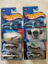 Hot Wheels 2004 ZAMAC First Editions LOT OF 6 Mitsubishi Eclipse Crooze Ooz Coup