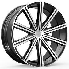 4-NEW KRONIK 404 EPIQ 18x8 5x110/5x114.3 +40mm Black/Machined Wheels Rims
