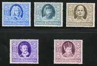Romania 1955 MNH Mi 1530-1534 Sc 1045-1049 Romanian writers **Masonic,masonry