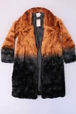 Urbancode Women's Longline Coat In Ombre Faux Fur SV3 Black/Rust Size US:6 NWT