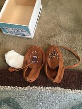 Vtg Unbranded Baby Beaded Leather Moccasins  Size 1 Don't Match As Is Box Too