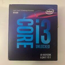 Intel Core i3 -8350K LGA1151 Processor Boxed