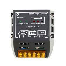 Panel Solar De 20A 12V/24V Batería Controlador de Carga Regulador Protección Segura WD