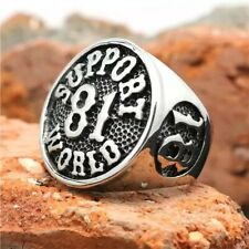 Support 81 World Ring silber BIG RED MACHINE - HAMC North End