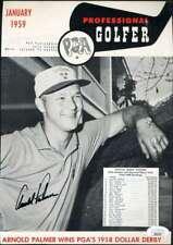 Arnold Palmer JSA Loa Autograph Hand Signed 1959 Professional Golfer Cover