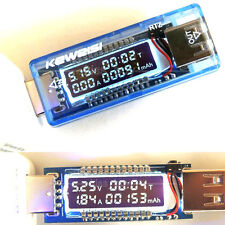 USB Capacity tester TIME Current Voltage Meter Digital LED Voltmeter Amperemeter