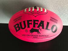Brand New Buffalo Soft Touch Pvc Mini Sz 20cm Fluro Pink Aussie Rules Football