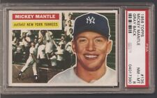 1956 TOPPS NO. 135 MICKEY MANTLE PSA 8 NEAR MINT/MINT WELL CENTERED