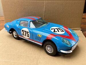 RARE Bandai Ferrari 275 GTB friction tin toy sports car 1960s