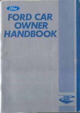 Ford Capri Cortina Escort Fiesta 1981 original Ford Range Owners Handbook