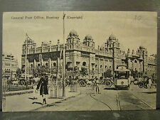cpa inde india general post office bombay tram tramway
