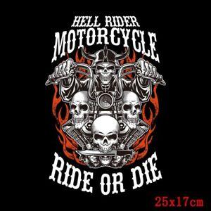 Motorcycle Rock Heat Transfers T Shirt Patch Sticker