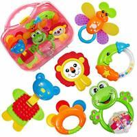 HERSITY Baby Rattle Teether Set Baby Activity Toys Sensory Teething Toys Gift