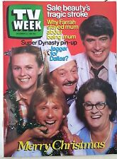 TV Week 1984, Country Practice,Dynasty P/U,Farrah Fawcett,Judy Green,PRISONER