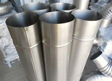 SET OF STEEL FLUE PIPES (5 PIPES + 3 ELBOWS) 100 MM DIAMETER