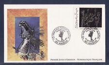 enveloppe 1er jour  nf   tableau  noir  Mata  80  Amiens     1991